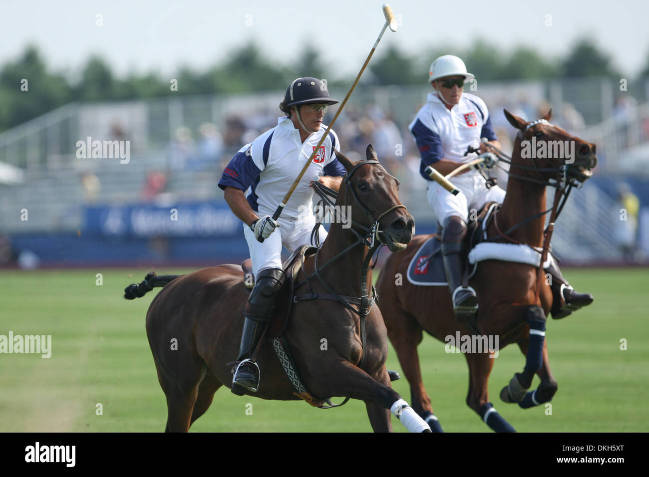 Nick Manifold and teammateAlessandro Bazzoni. Team Cinque Terre defeated Team Certified 14-10 in The opening day Stock Photo