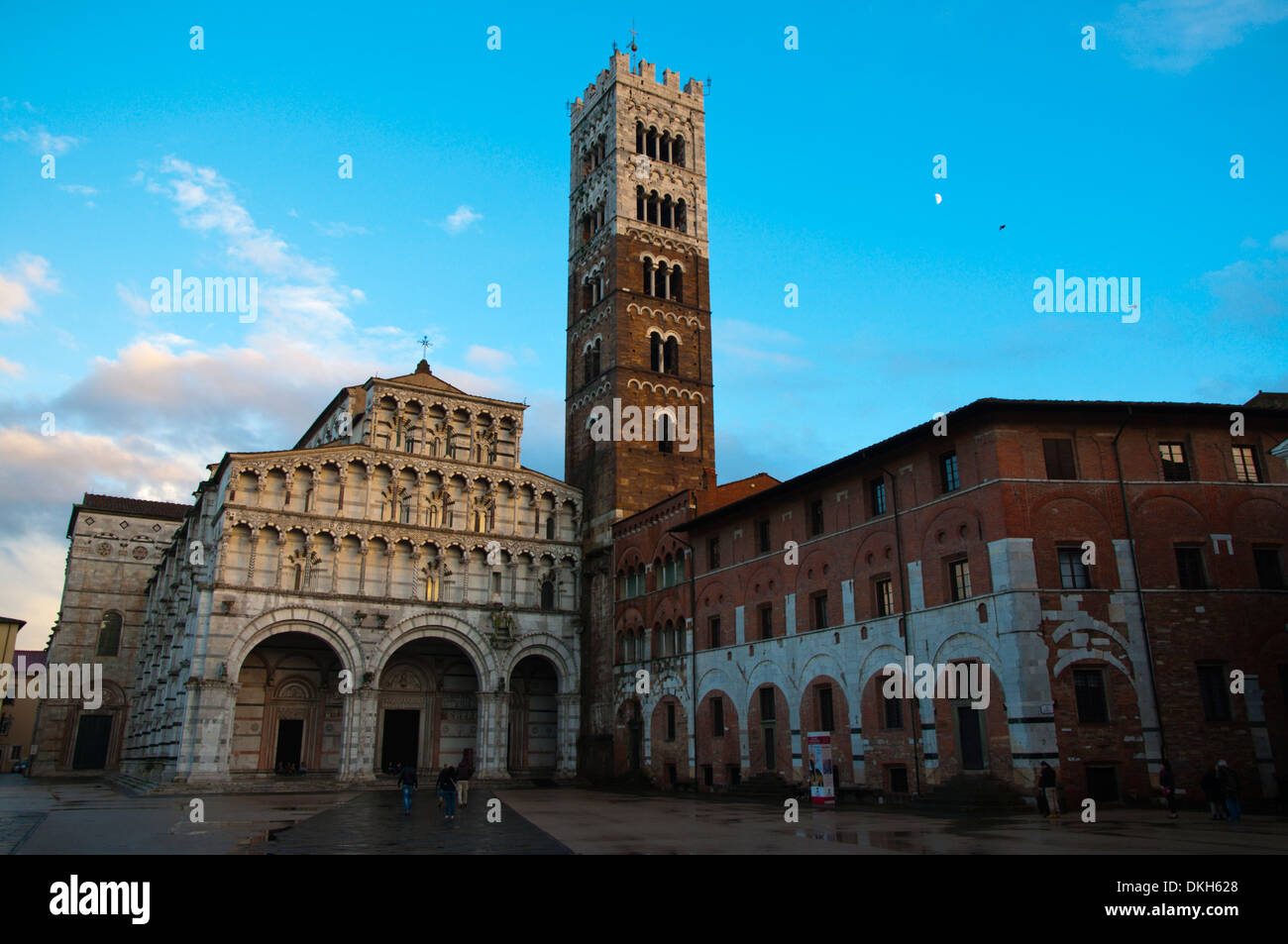 Duomo the cathedral cattedrale di San Martino church old town Lucca city Tuscany region Italy Europe - Stock Image