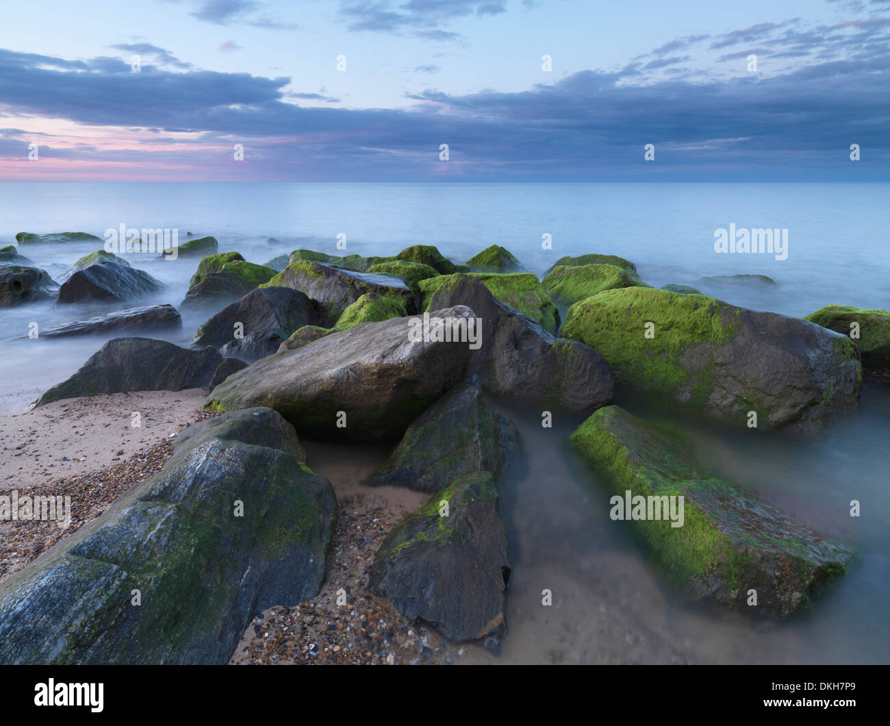 A beautiful sky on a summer evening at Caister 0n Sea, Norfolk, England, United Kingdom, Europe Stock Photo