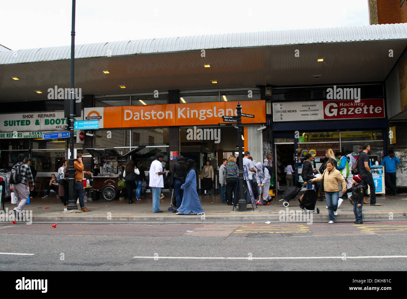 Dalston Kingsland Overground Station in East London - Stock Image