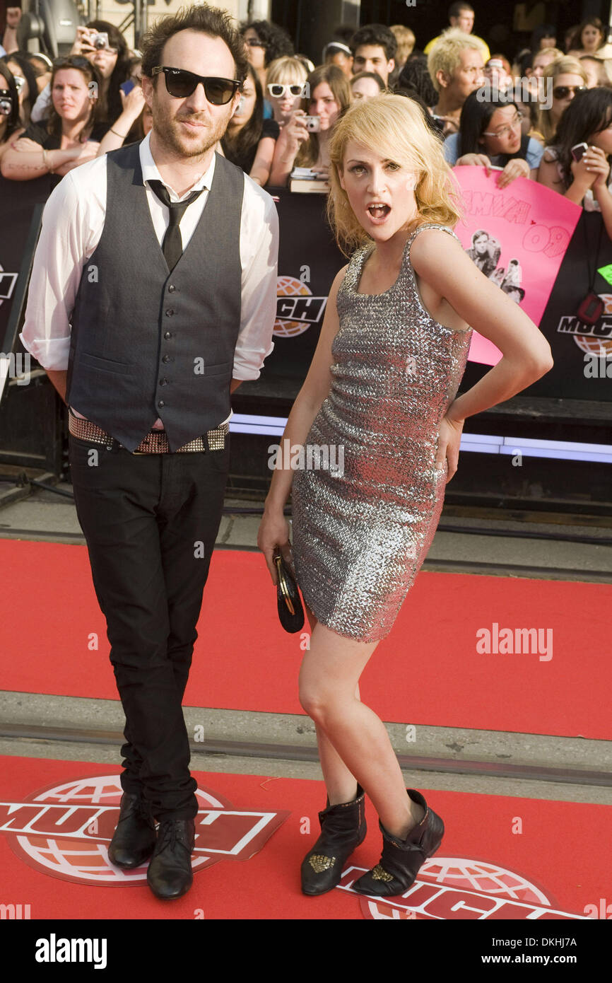 June 21, 2009 - Toronto, Ontario, Canada - June 21, Toronto; Metric on the Red Carpet at the Much Music Video Awards Stock Photo