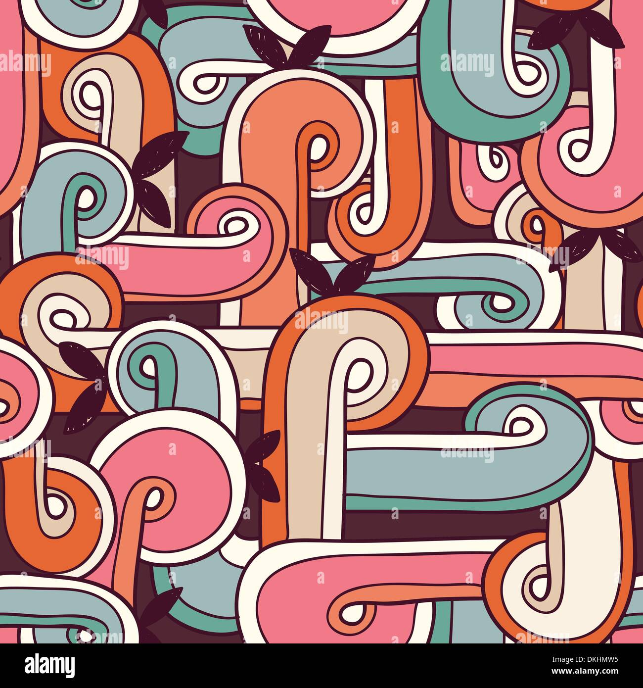 abstract vector seamless pattern - Stock Image