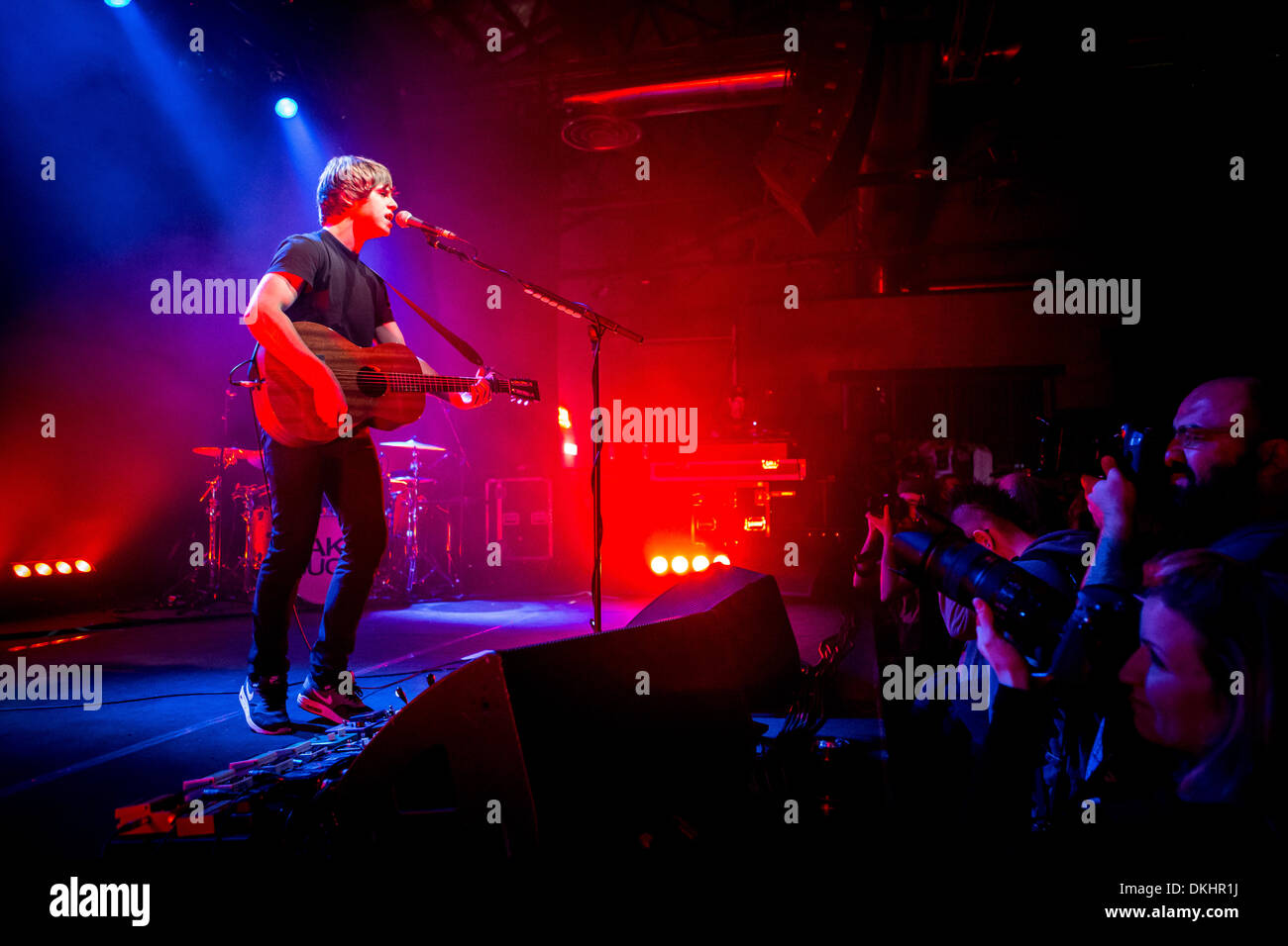 Milan Italy. 04th December 2013. The English indie-rock songwriter JAKE BUGG performs live at the music club Alcatraz Stock Photo