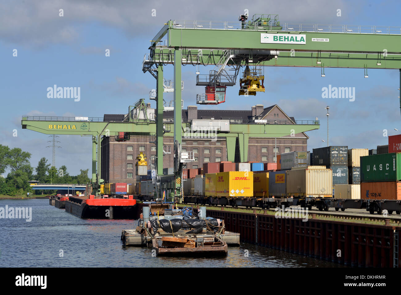 Berlin Germany Behala west harbour Berlin 05:23 Deutschland Westhafen - Stock Image