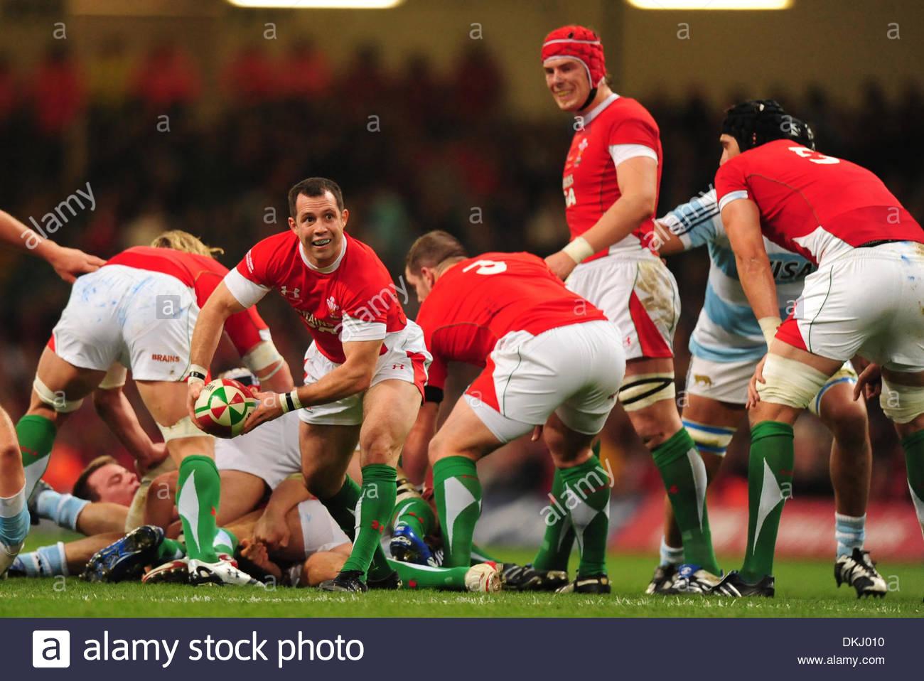 Gareth Cooper of Wales..Invesco Perpetual Series 09..Wales v Argentina..21st November, 2009.(Credit Image: © Simon Bellis/Sportimage/Cal Sport Media) - Stock Image