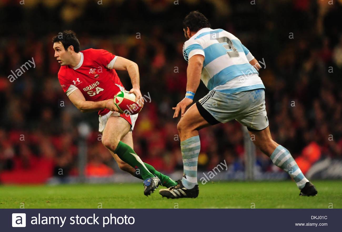 Stephen Jones of Wales..Invesco Perpetual Series 09..Wales v Argentina..21st November, 2009.(Credit Image: © Simon Bellis/Sportimage/Cal Sport Media) - Stock Image
