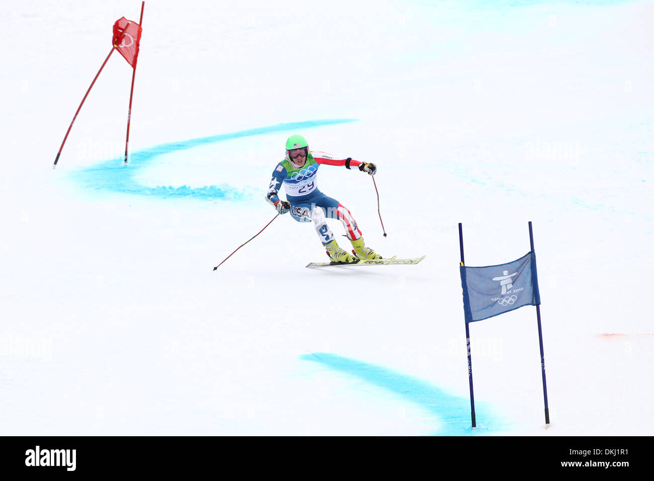 Feb. 24, 2010 - Whistler, British Columbia, Canada - TOMMY FORD (USA) competes in Men's Giant Slalom at the Vancouver Stock Photo