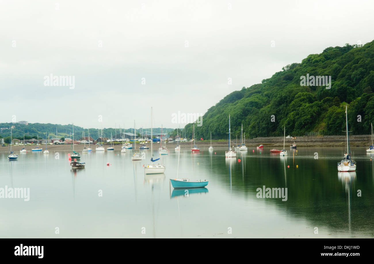 Yachts in Beaumaris, Anglesey, Wales - Stock Image