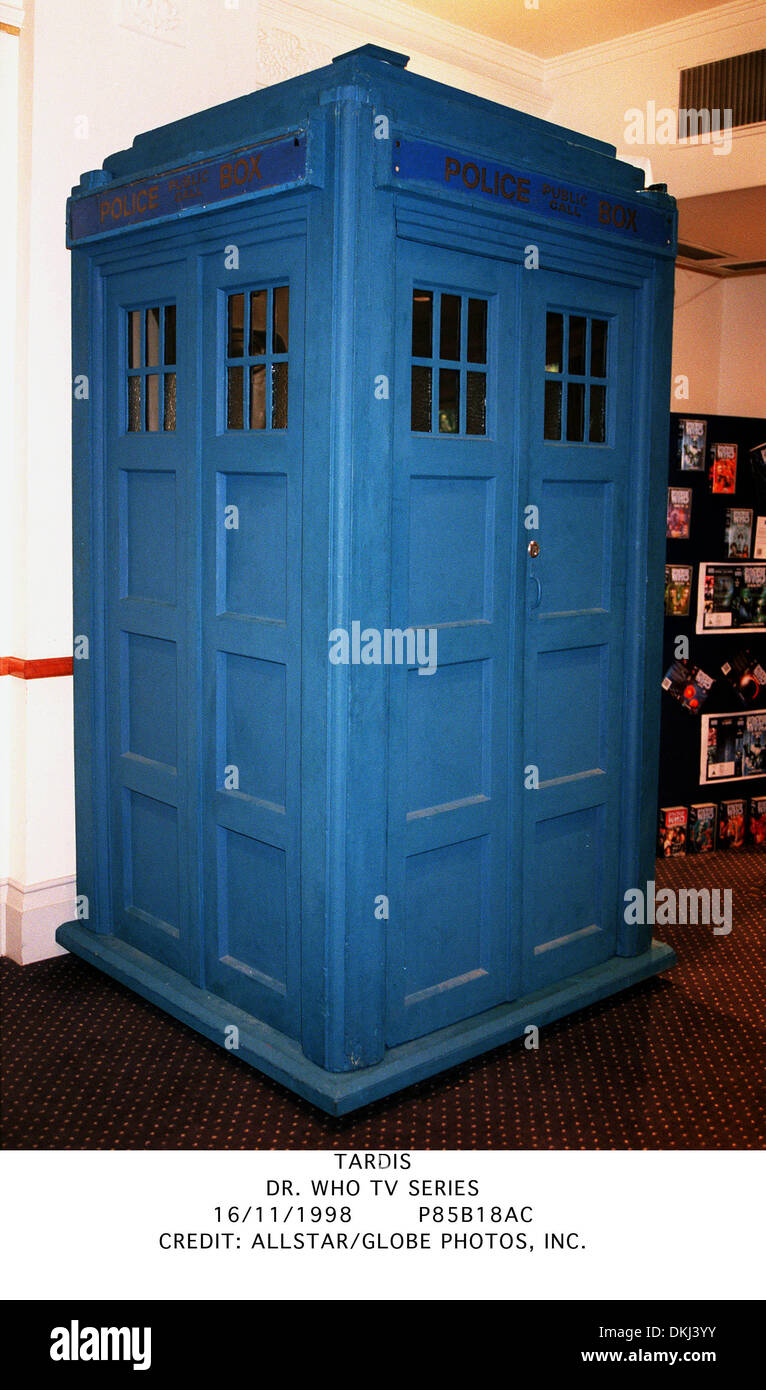 TARDIS.DR. WHO TV SERIES.16/11/1998.P85B18AC. - Stock Image
