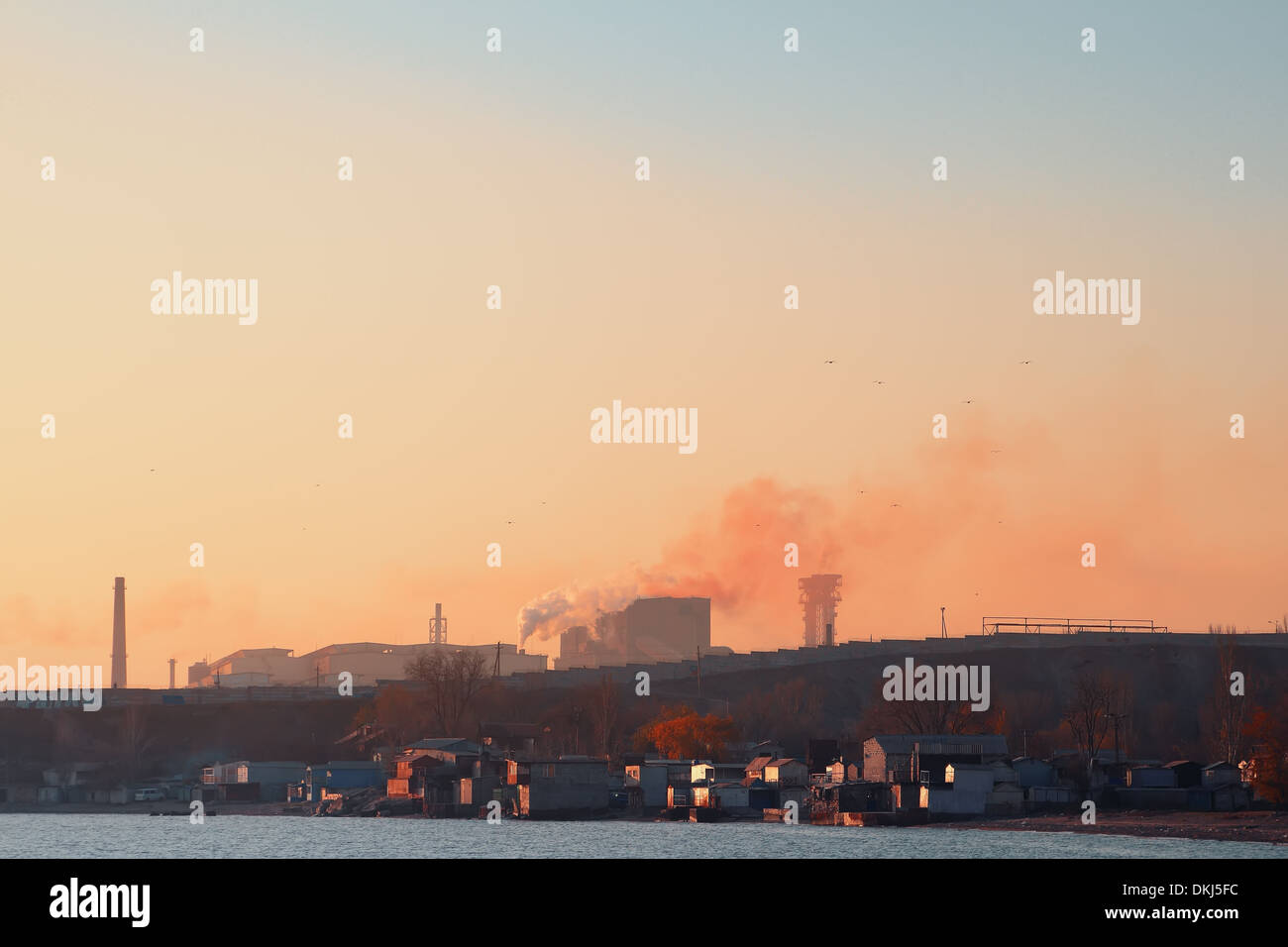 heavy industry,environmental pollution - Stock Image