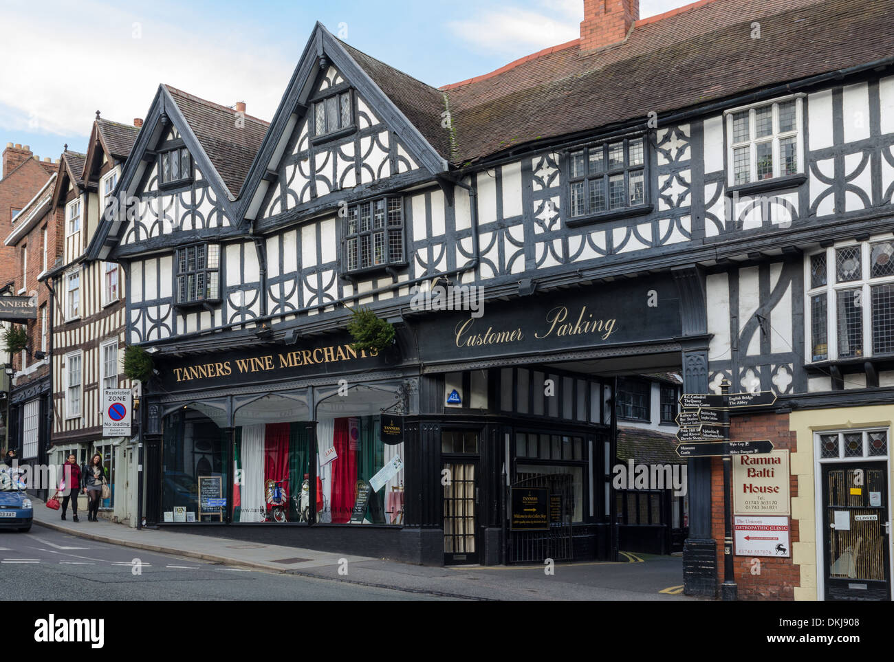 Tanners Wine Merchants in Wyle Cop, Shrewsbury - Stock Image