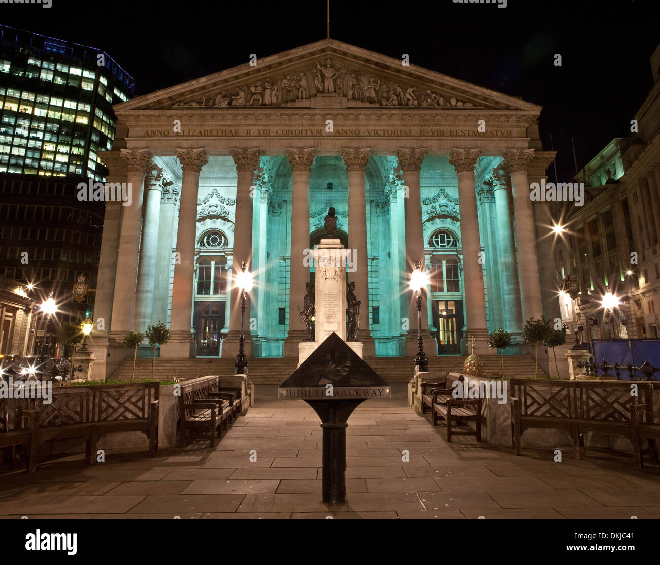 The Royal Exchange in London. - Stock Image