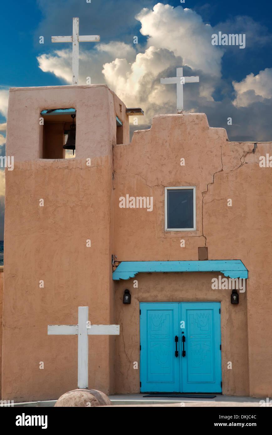 Santa Clara Pueblo Church. New Mexico - Stock Image