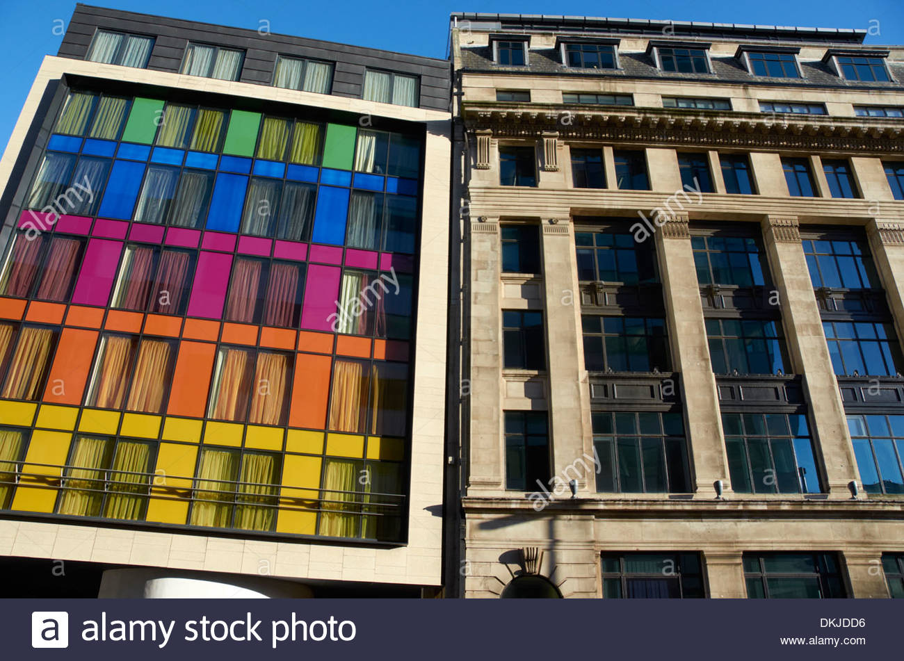 The rear facade of The Indigo Hotel on Rumford Place in Liverpool, England. - Stock Image