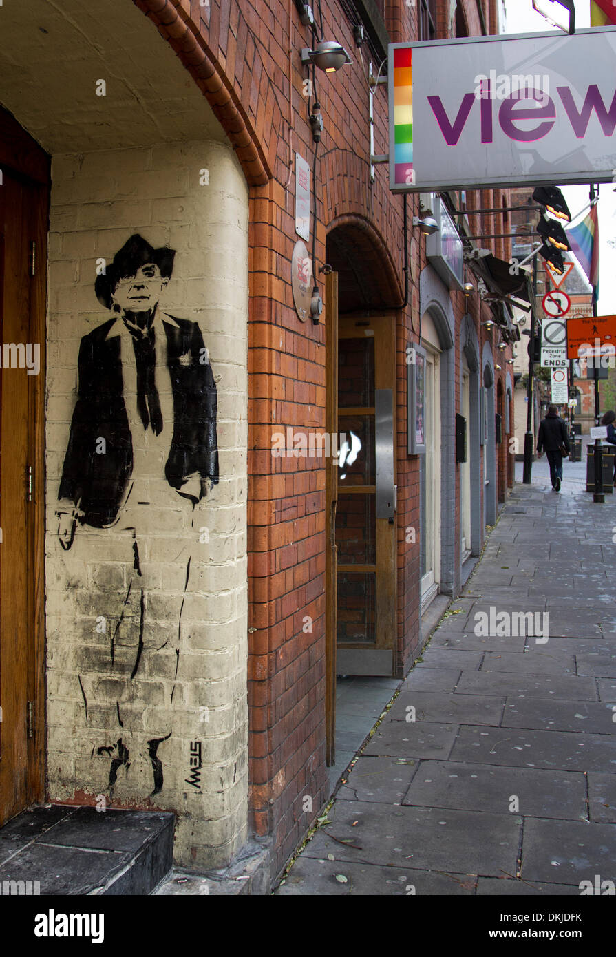 Manchester City UK.  6th December, 2013.  Canal Street Art exhibition at Deansgate, Manchester.  'Northern Souls' Stock Photo