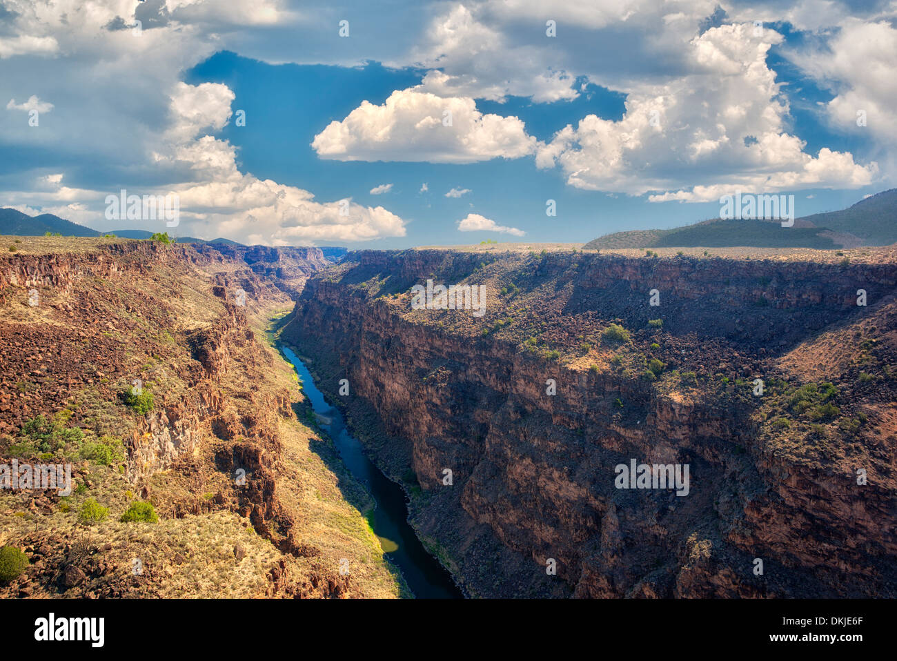 Rio Grande River and gorge near Taos, New Mexico. - Stock Image