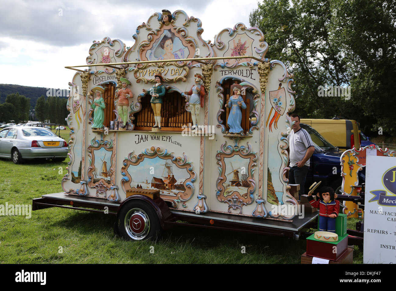 Classic Vehicles, Traction Engines and Showground Organs at Knotford Nook, Otley. - Otley Vintage Transport Extravaganza - Stock Image