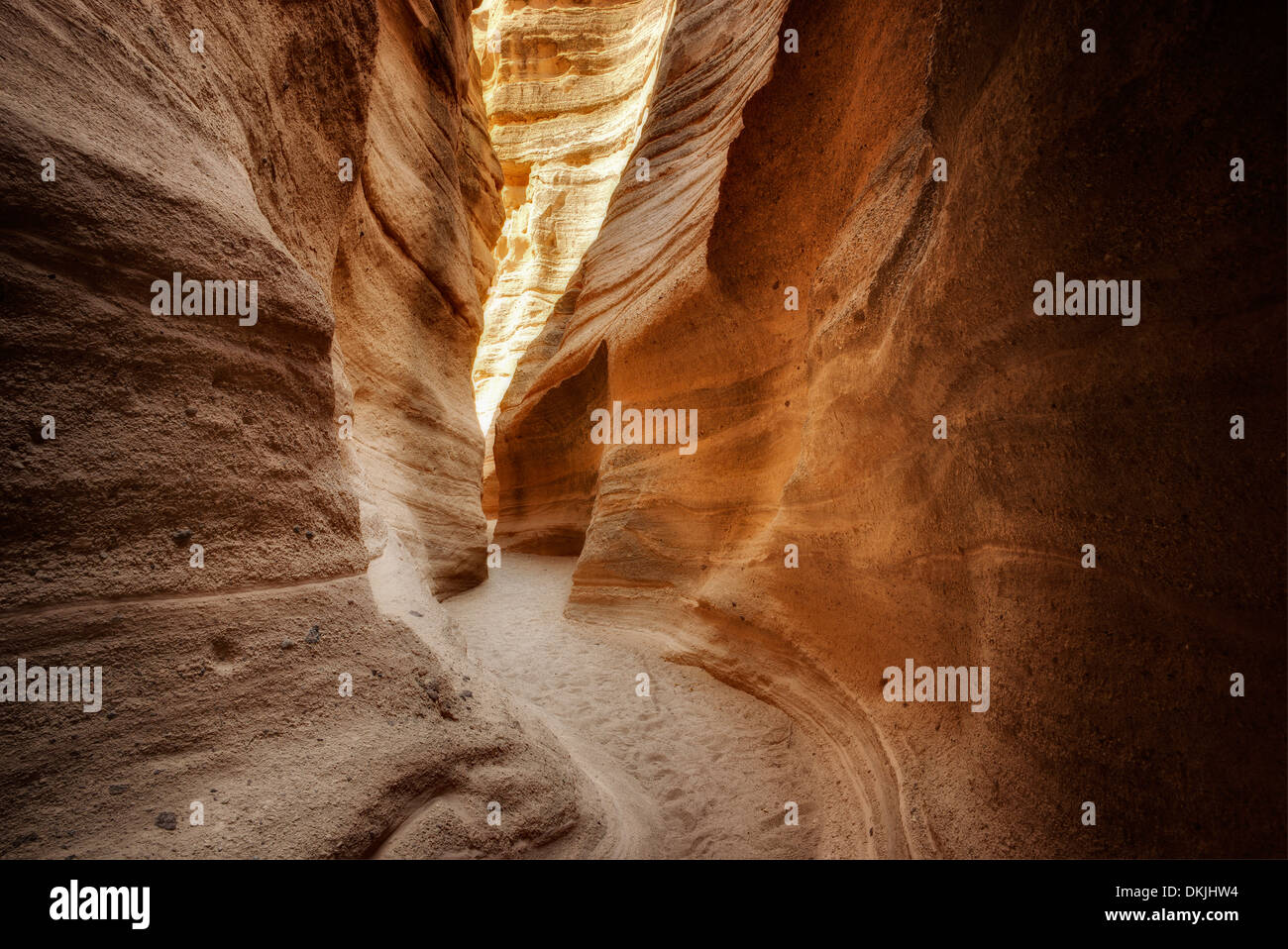 Slot canyon in Tent Rocks National Monument, New Mexico Stock Photo