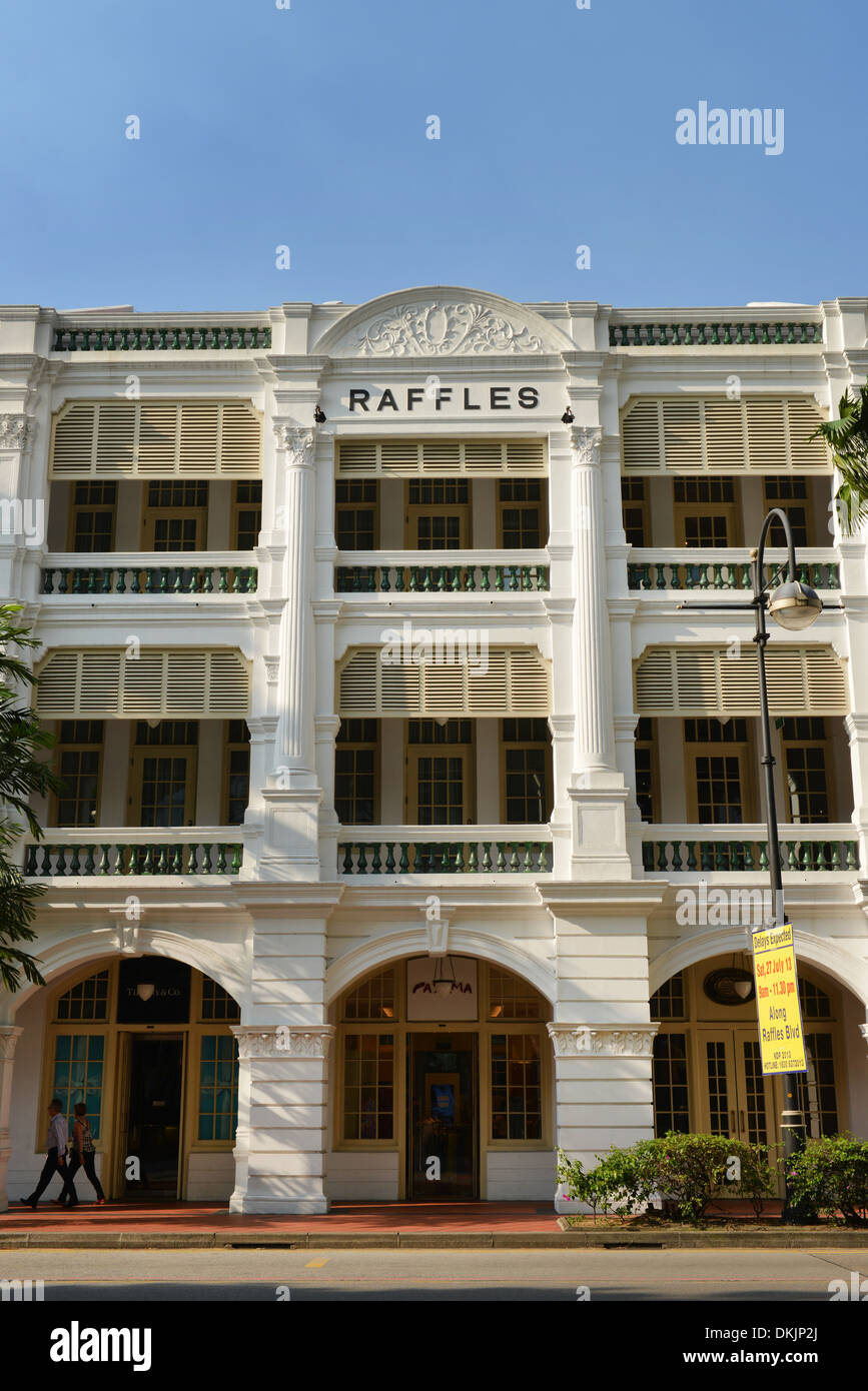 Hotel Raffles, Beach Road, Singapur - Stock Image