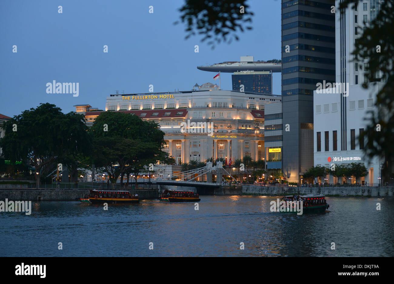 Fullerton Hotel, Singapur - Stock Image