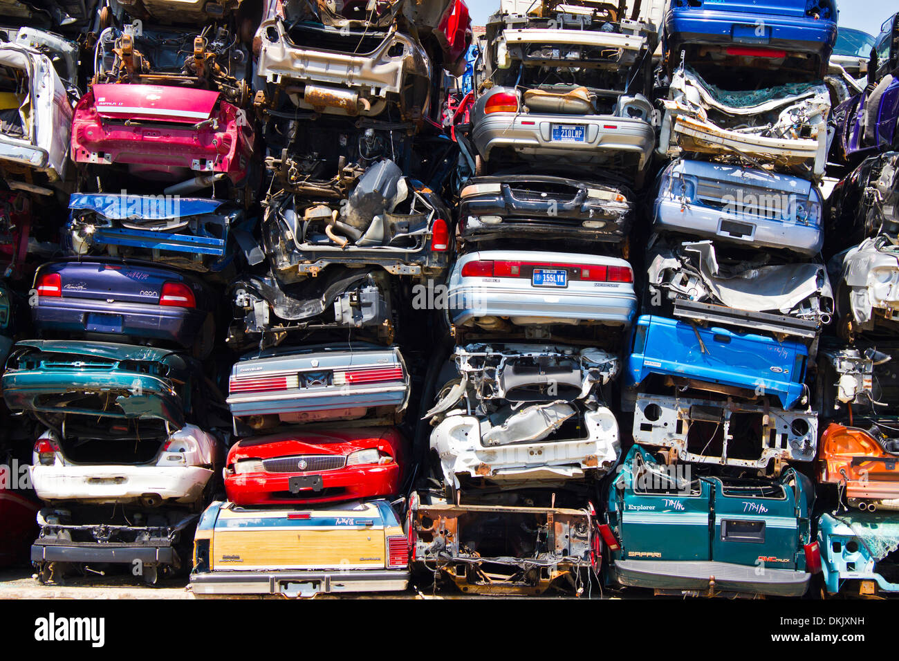 Car Battery Recycling >> A Pile of Stacked Junk Cars - Discarded Junk Cars Piled Up After Stock Photo: 63725693 - Alamy