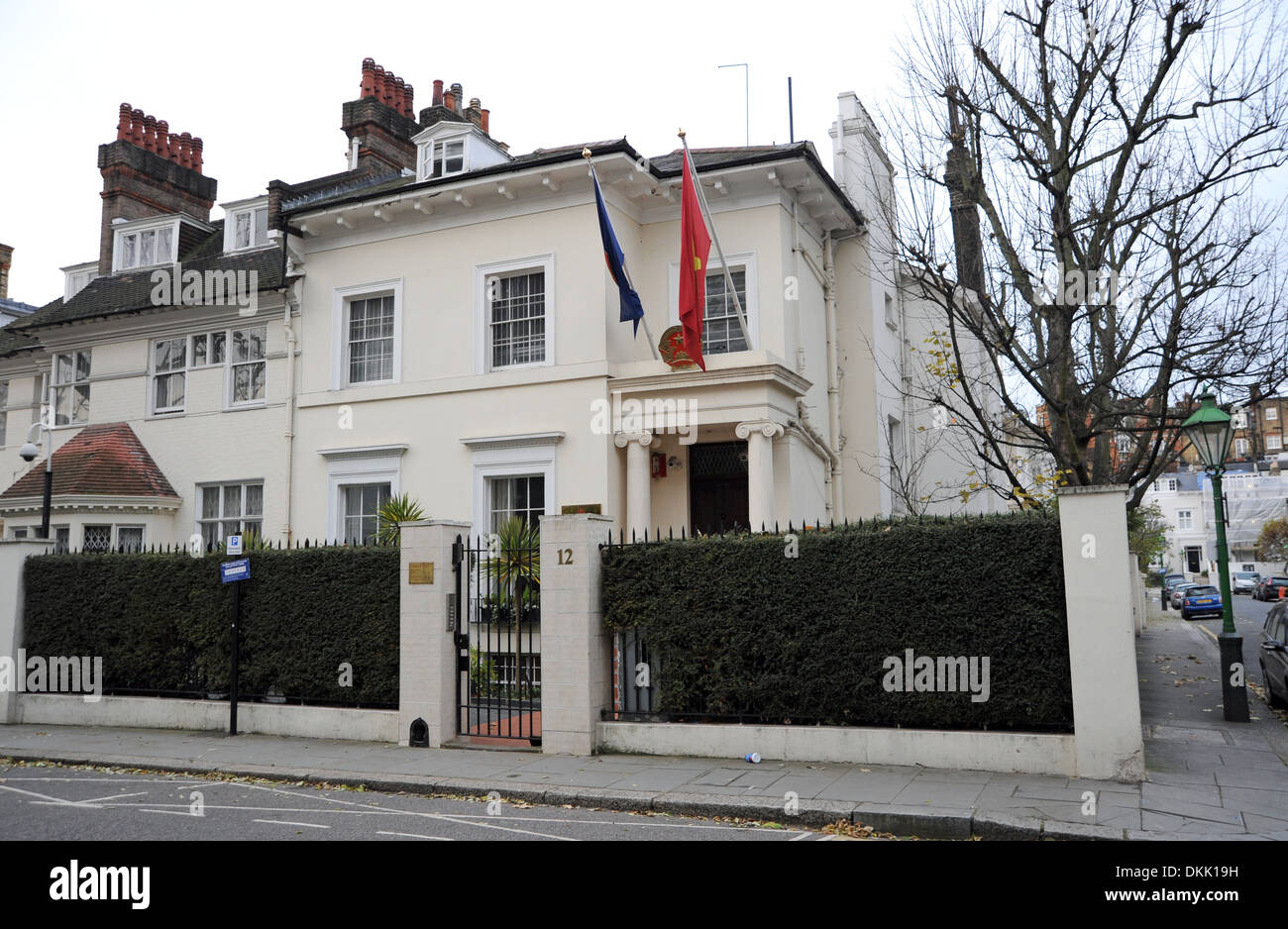The Vietnam Embassy in the Royal Borough of Kensington and Chelsea London W8 UK Stock Photo