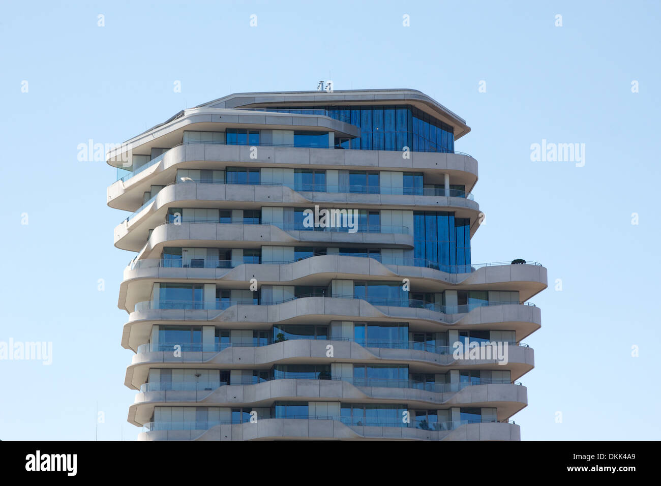 Penthouse of the landmark Marco-Polo-Tower luxury condominium in ...
