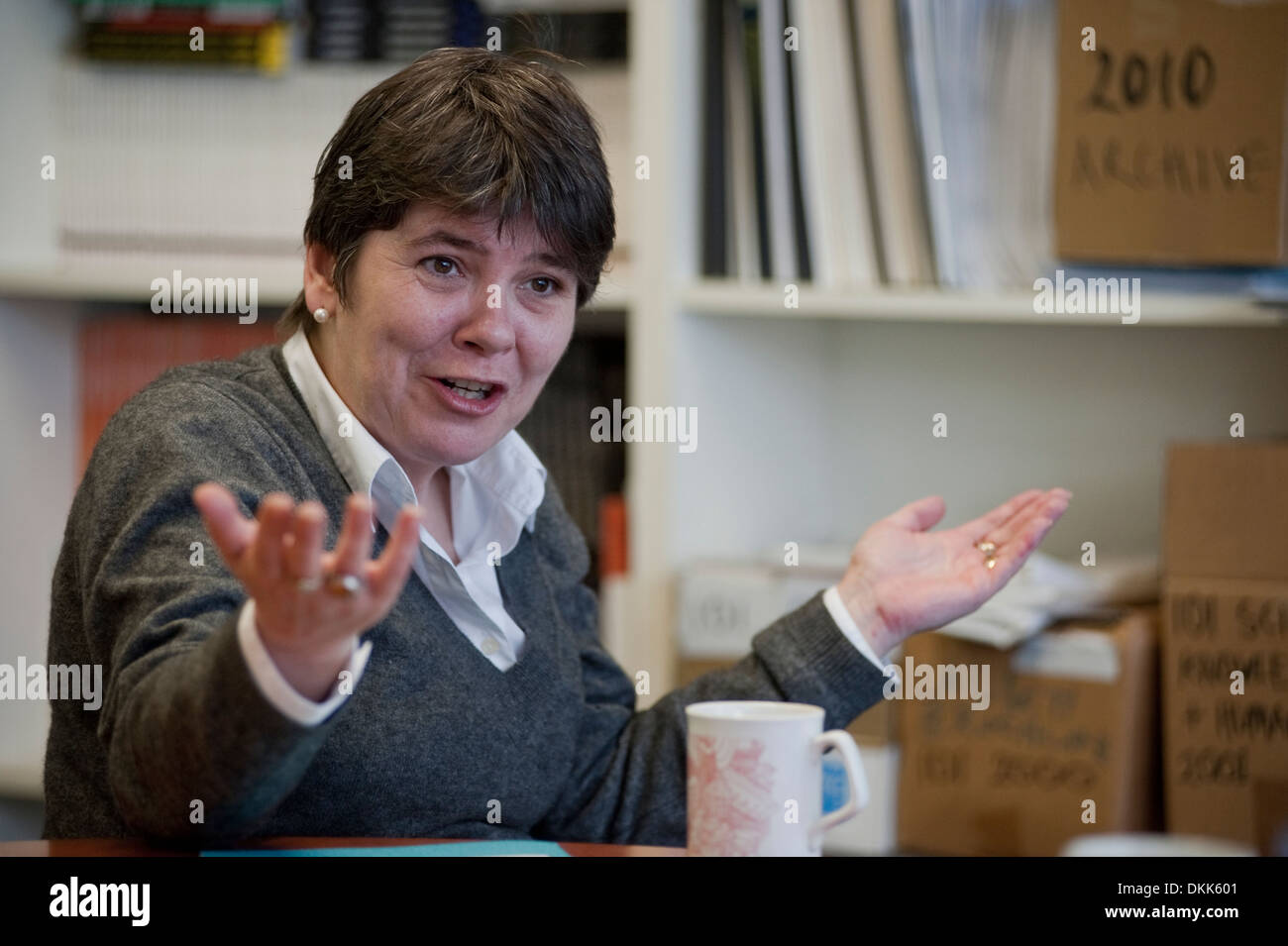 Claire Fox is a British  libertarian writer. Director and founder of the British think tank, the Institute of Ideas - Stock Image