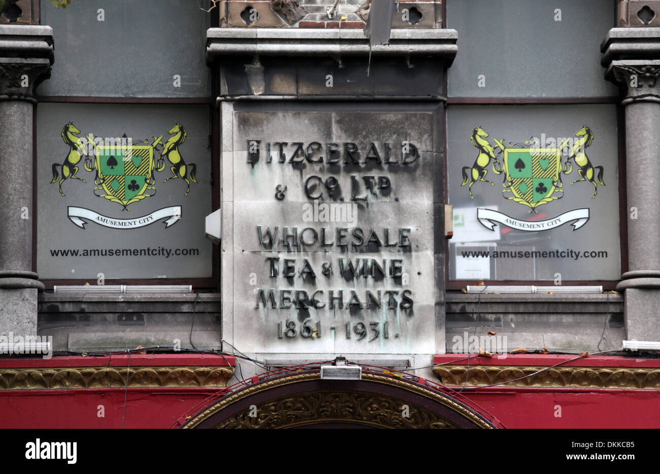 Fitzgerald and Co Ltd Sign in Dublin - Stock Image