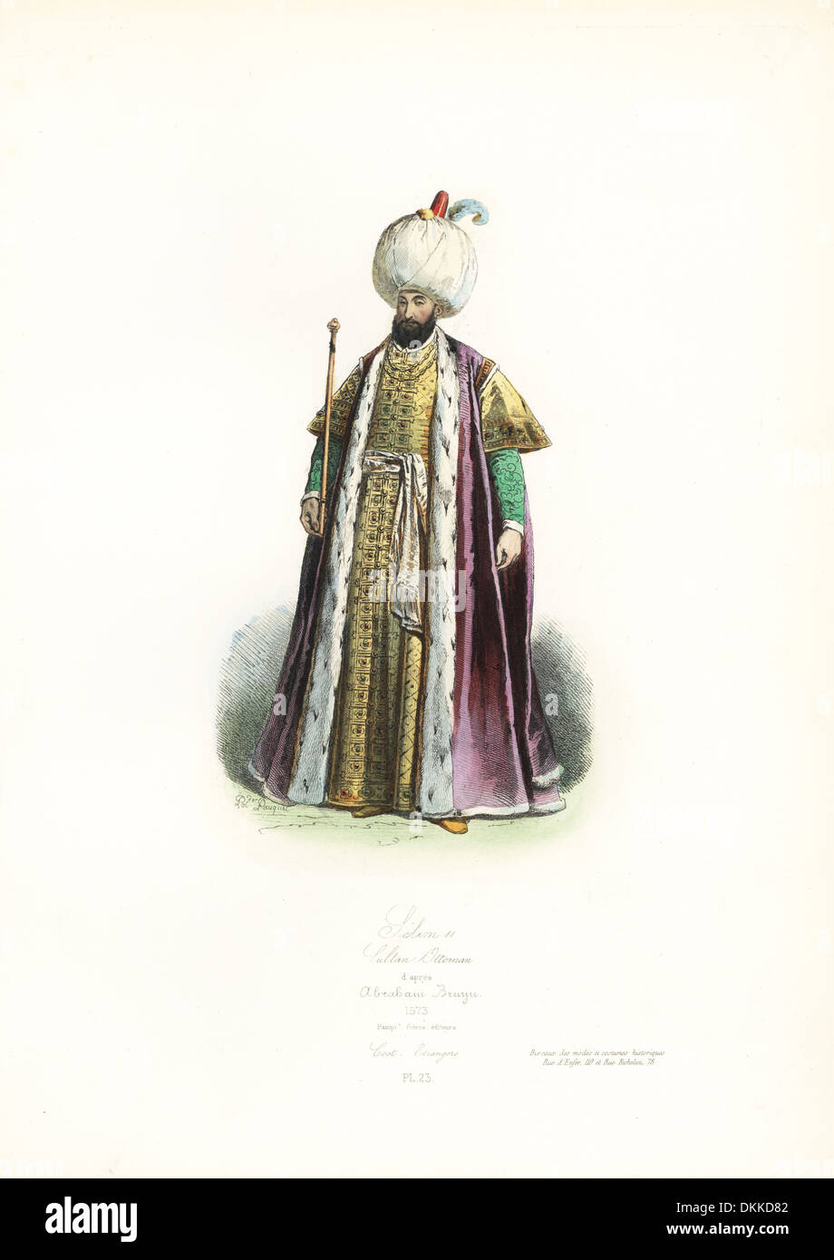Selim II, Sultan of the Ottoman Empire, after Abraham de Bruyn, 1573. - Stock Image