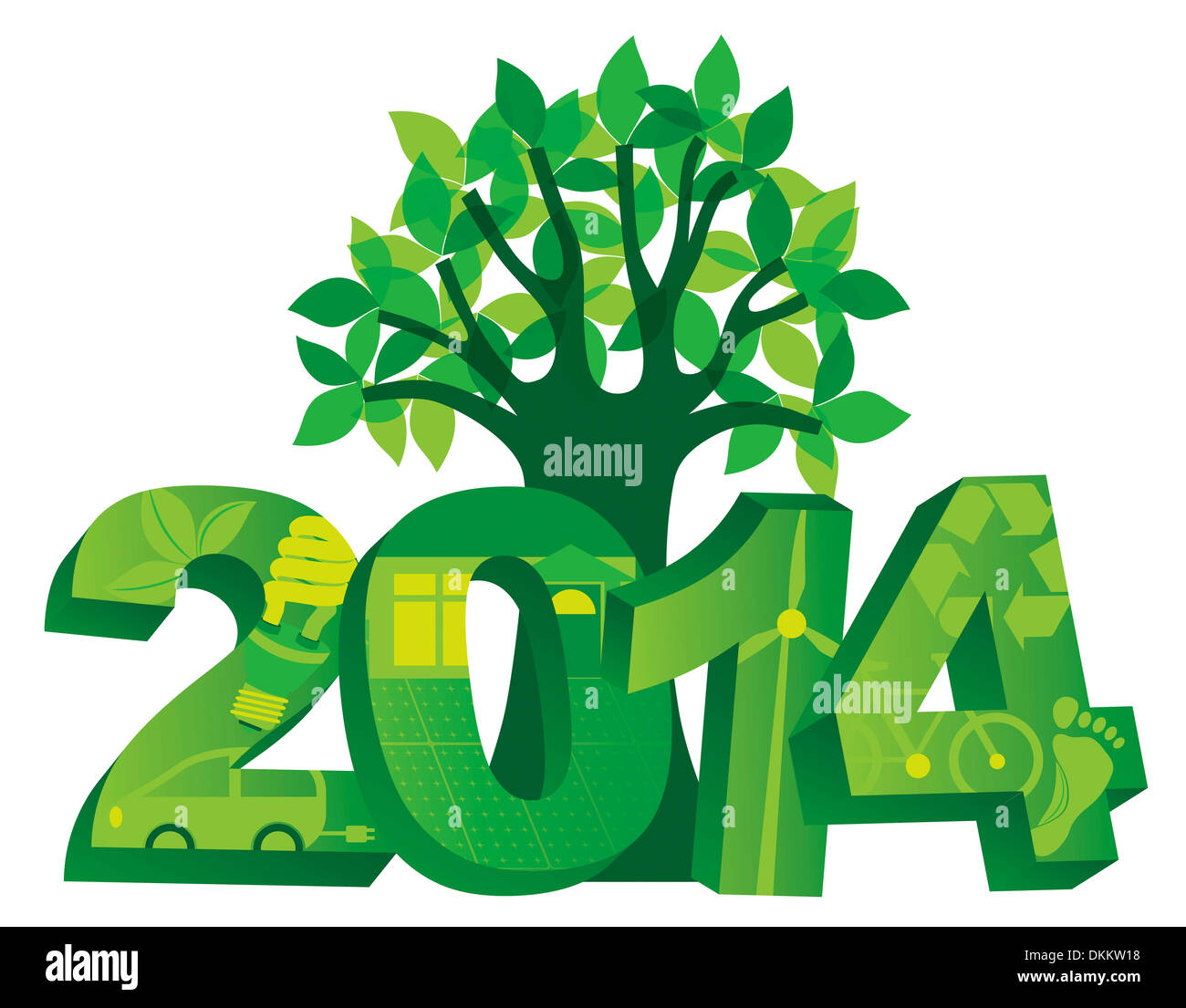 Solar New Year Cut Out Stock Images Pictures Alamy