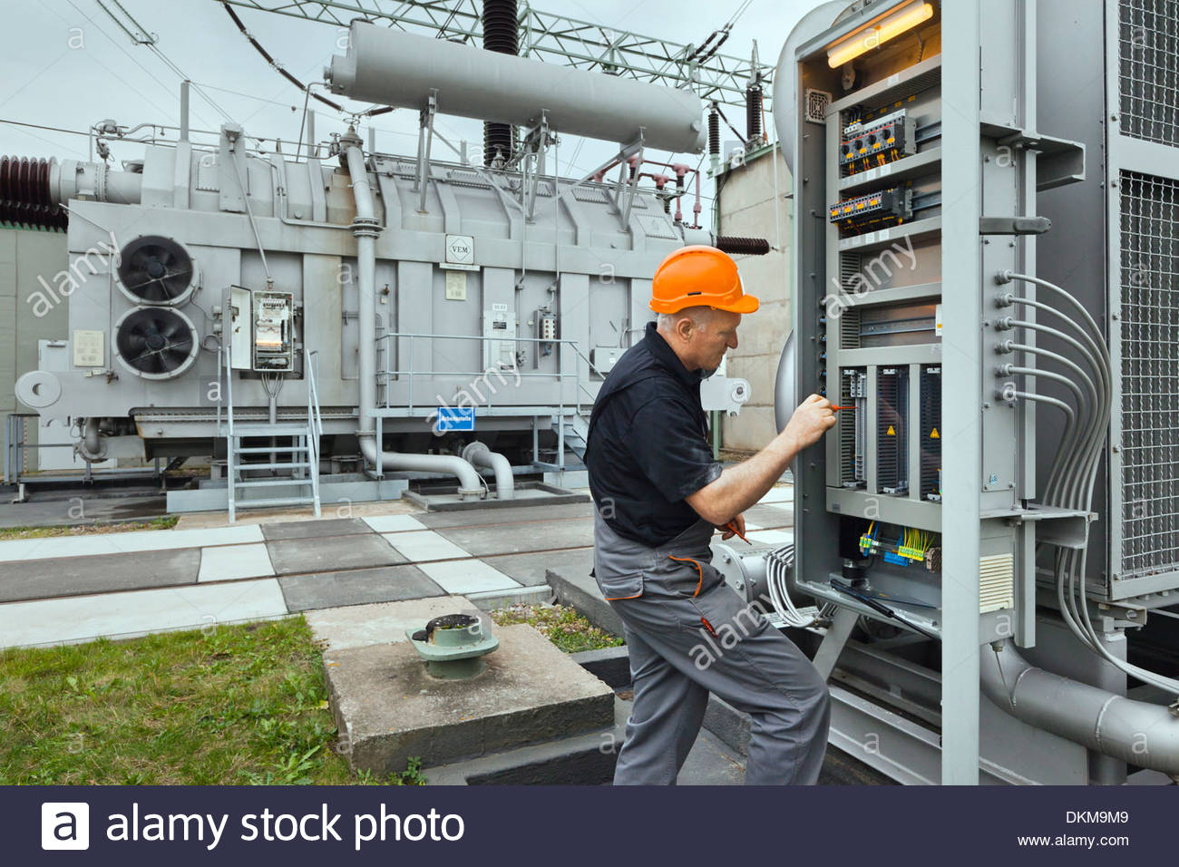 Maintenance work and testing of power transformers in an electrical ...