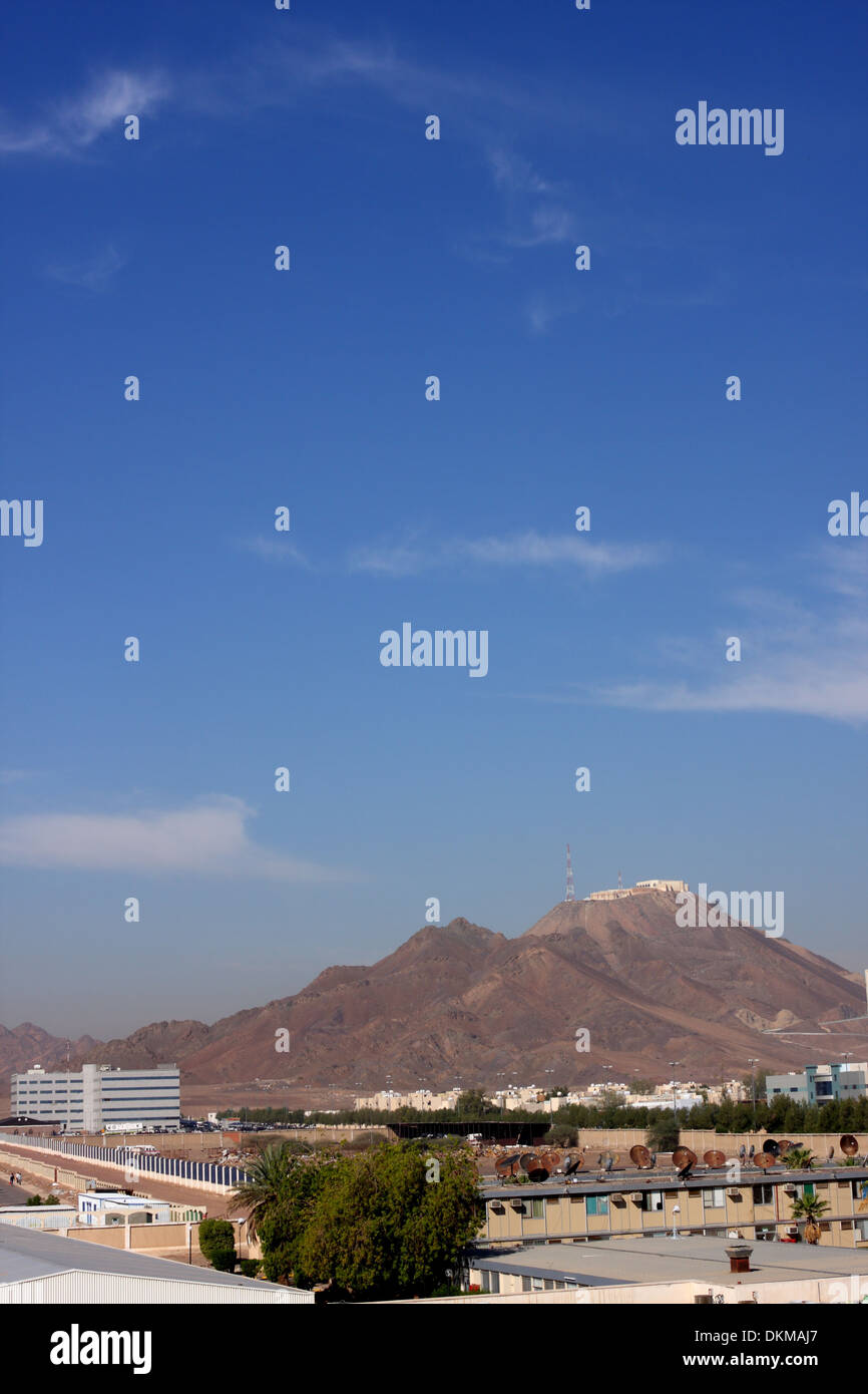 Mountain on the outskirts of Medina, Kingdom of Saudi Arabia - Stock Image