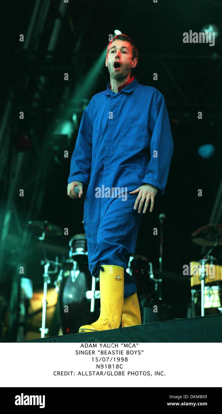 ADAM YAUCH ''MCA''.SINGER ''BEASTIE BOYS''.15/07/1998.N91B18C. - Stock Image