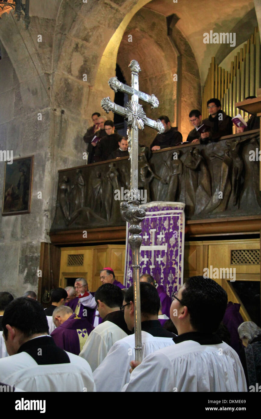First Sunday of Lent at the Church of the Holy Sepulchre - Stock Image