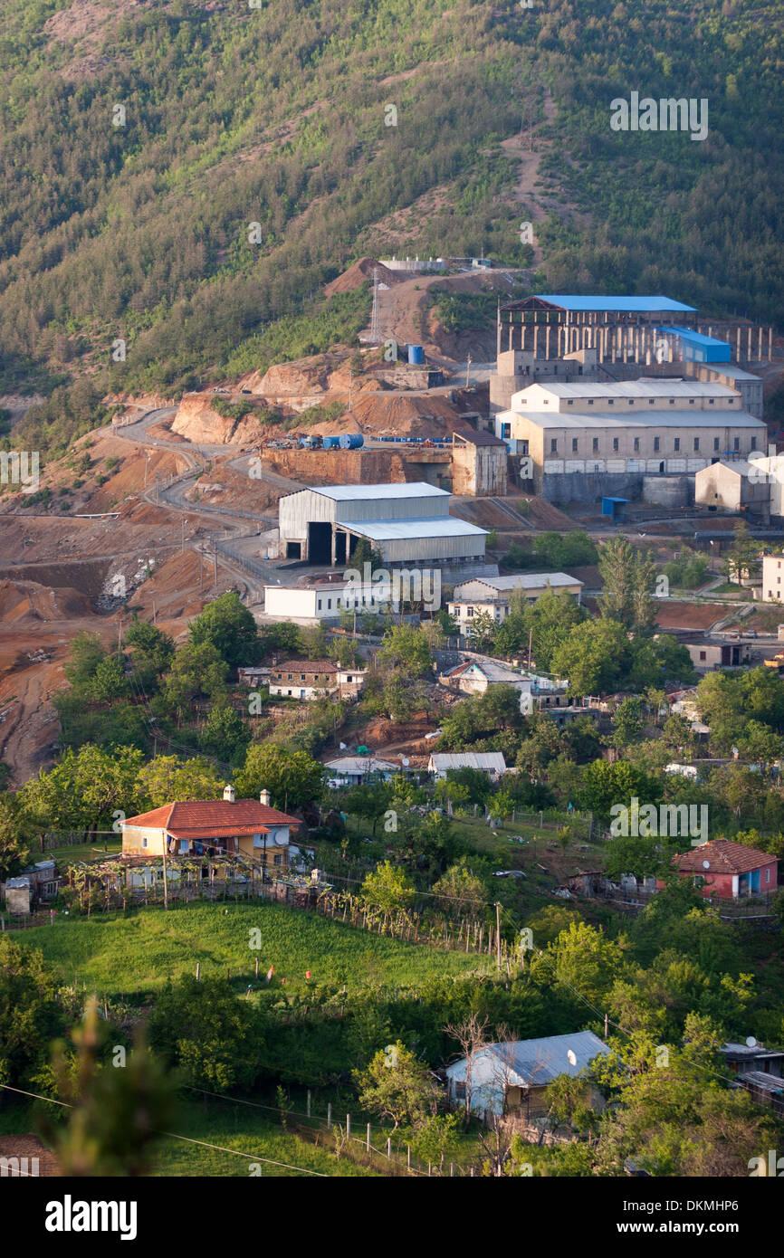 Copper Enrichment Plant in Fushe Arrez, Albania - Stock Image