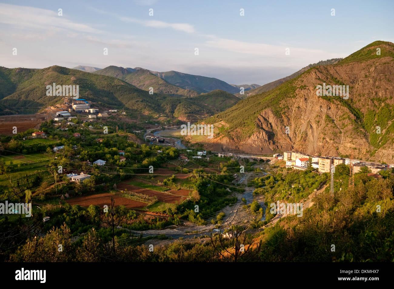 Fushe Arrez, little poor village in northern albania - Stock Image