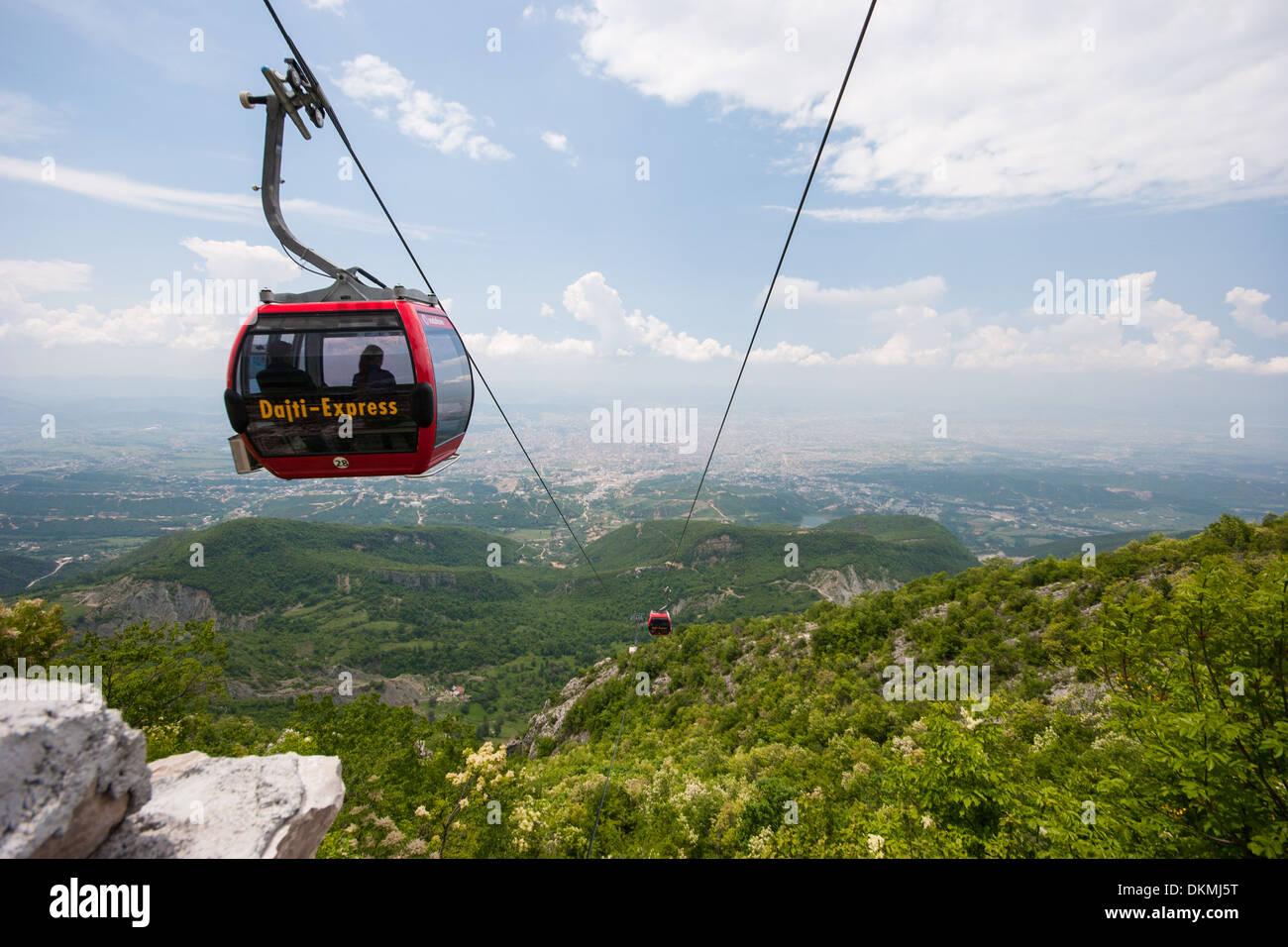 Dajti-Express, Cable Car near Tirana, Albania - Stock Image