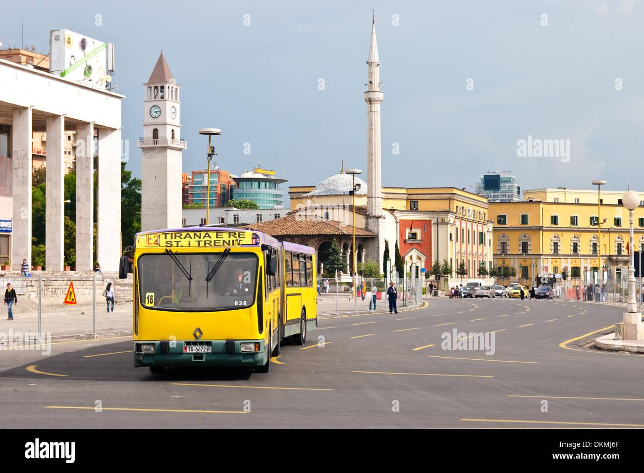 Skanderbeg Square, Tirana, Albania - Stock Image
