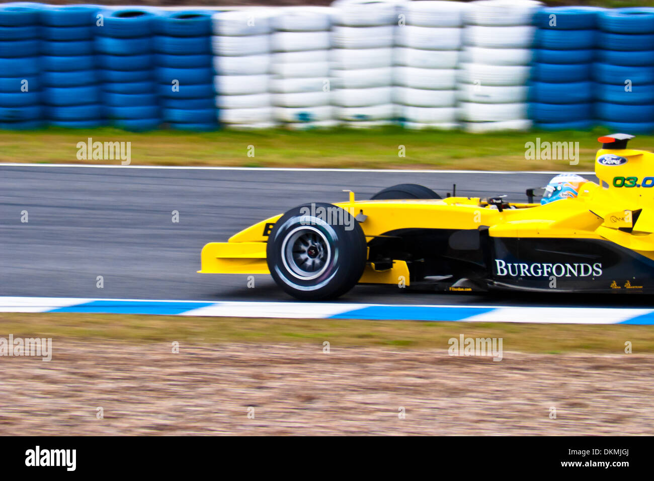 Robert Doornbos Of Jordan F1 Races During A Training Session Stock Photo Alamy