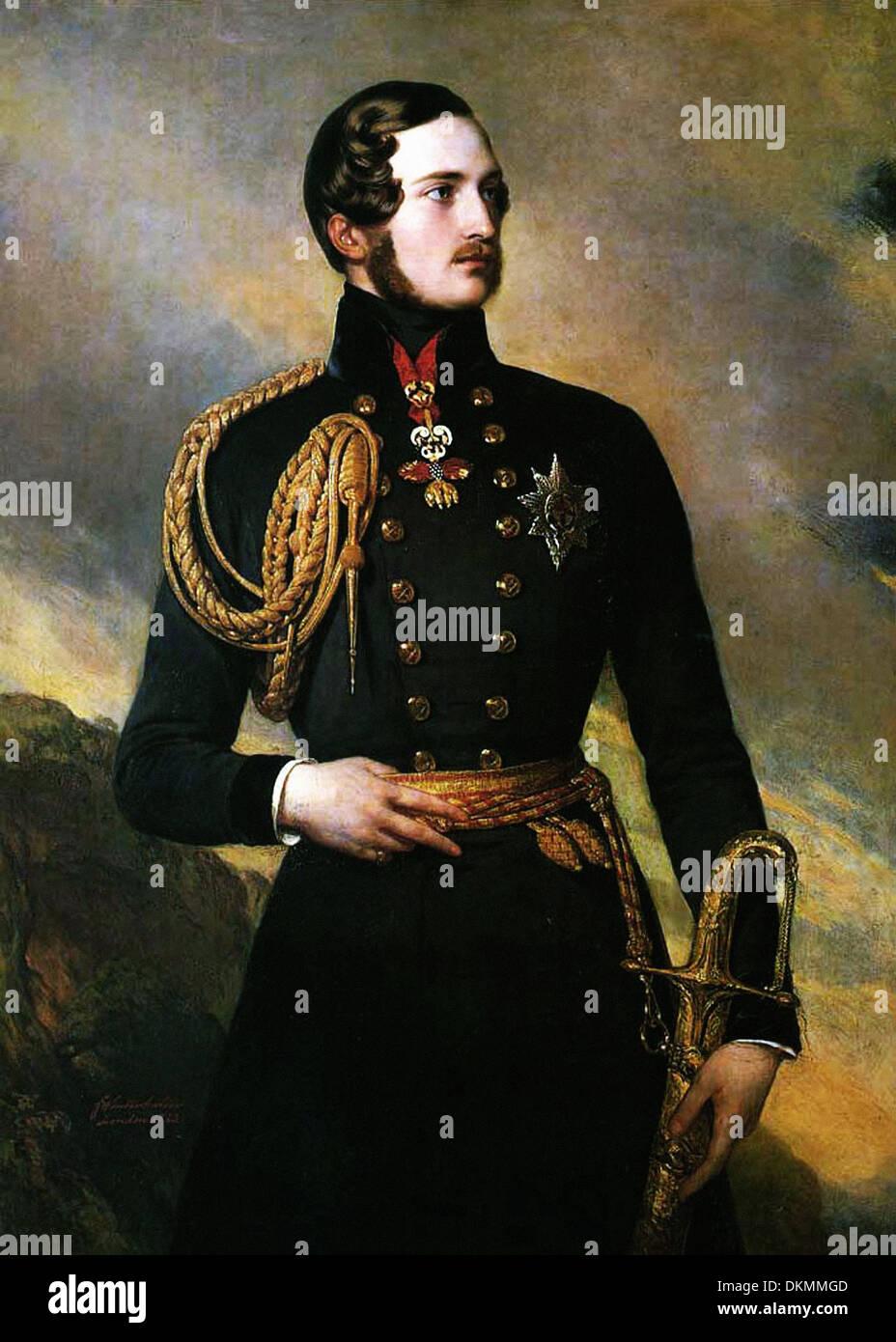 Franz Xaver Winterhalter - Portrait of Prince Albert - Stock Image