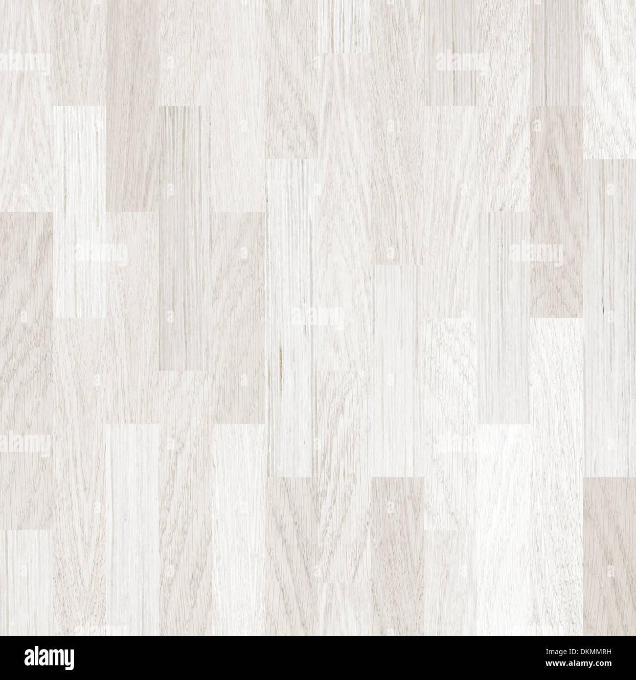 wooden floor white parquet background - Stock Image