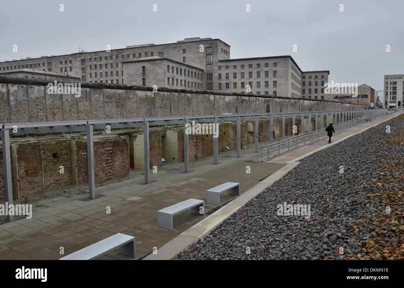 Topography of Terror Documentation Center, Berlin, Germany - Stock Image