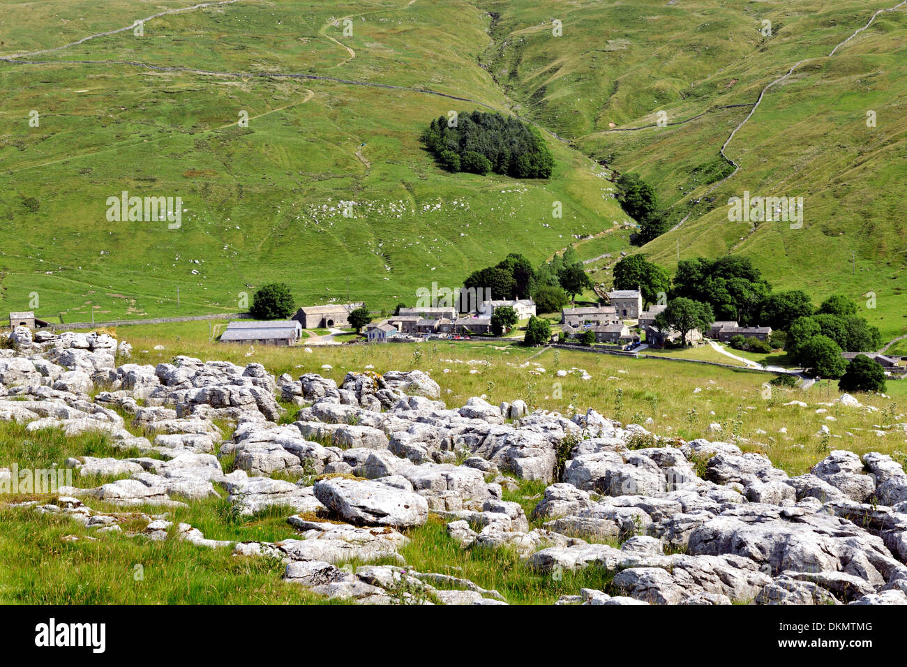 The tranquil and remote location of Halton Gill, Littondale, Yorkshire Dales National Park, England - Stock Image