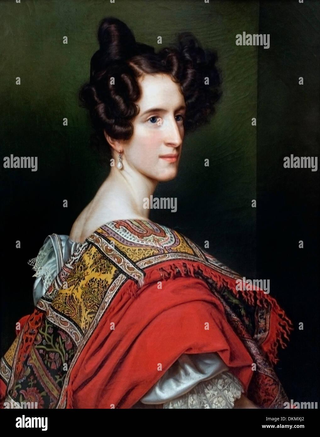 Court Singer Katharina Sigl Vespermann 1828 Joseph Stieler 1781-1858 German Germany - Stock Image