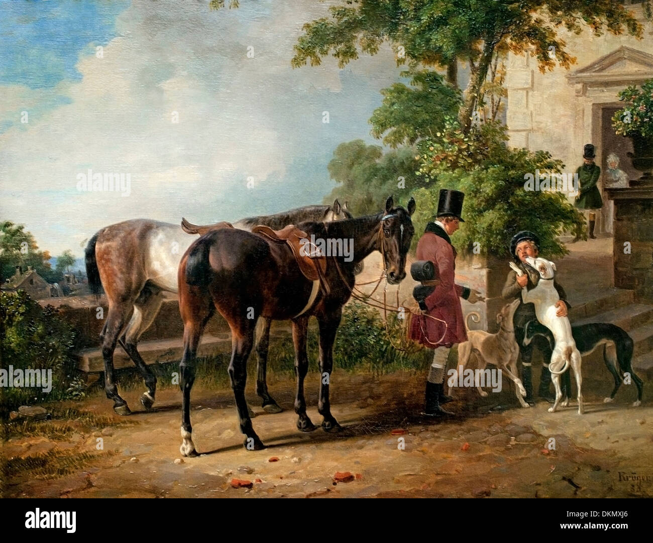 Stable Lad 1836 Franz Kruger 1797-1857  German Germany - Stock Image