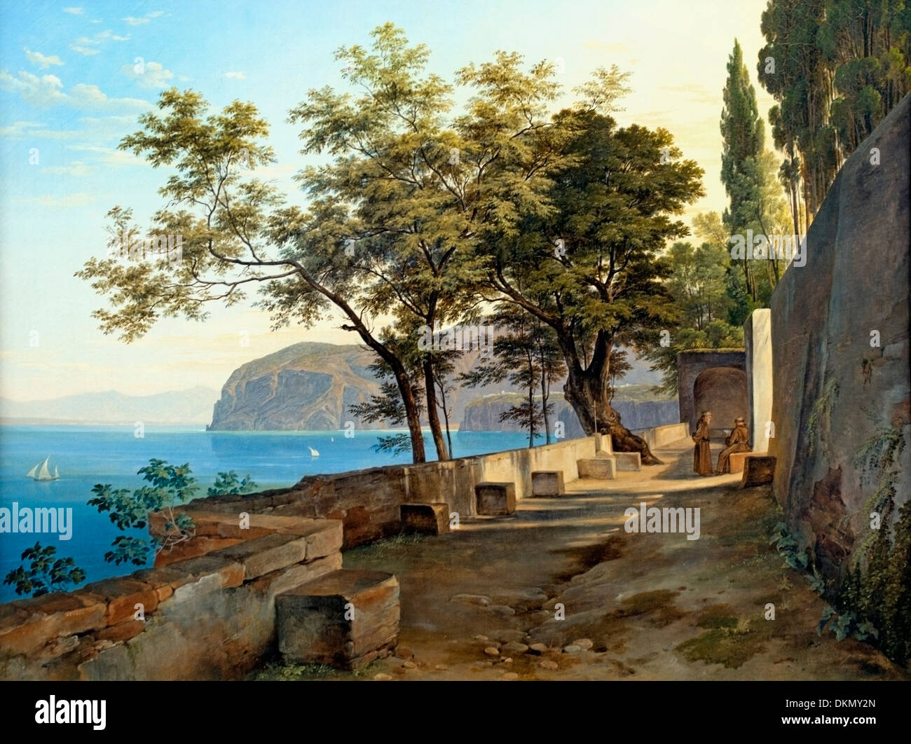 Terrace of the Capuchin Priory  in Sorrento 1823 Heinrich Reinhold 1788-1825 German Germany - Stock Image