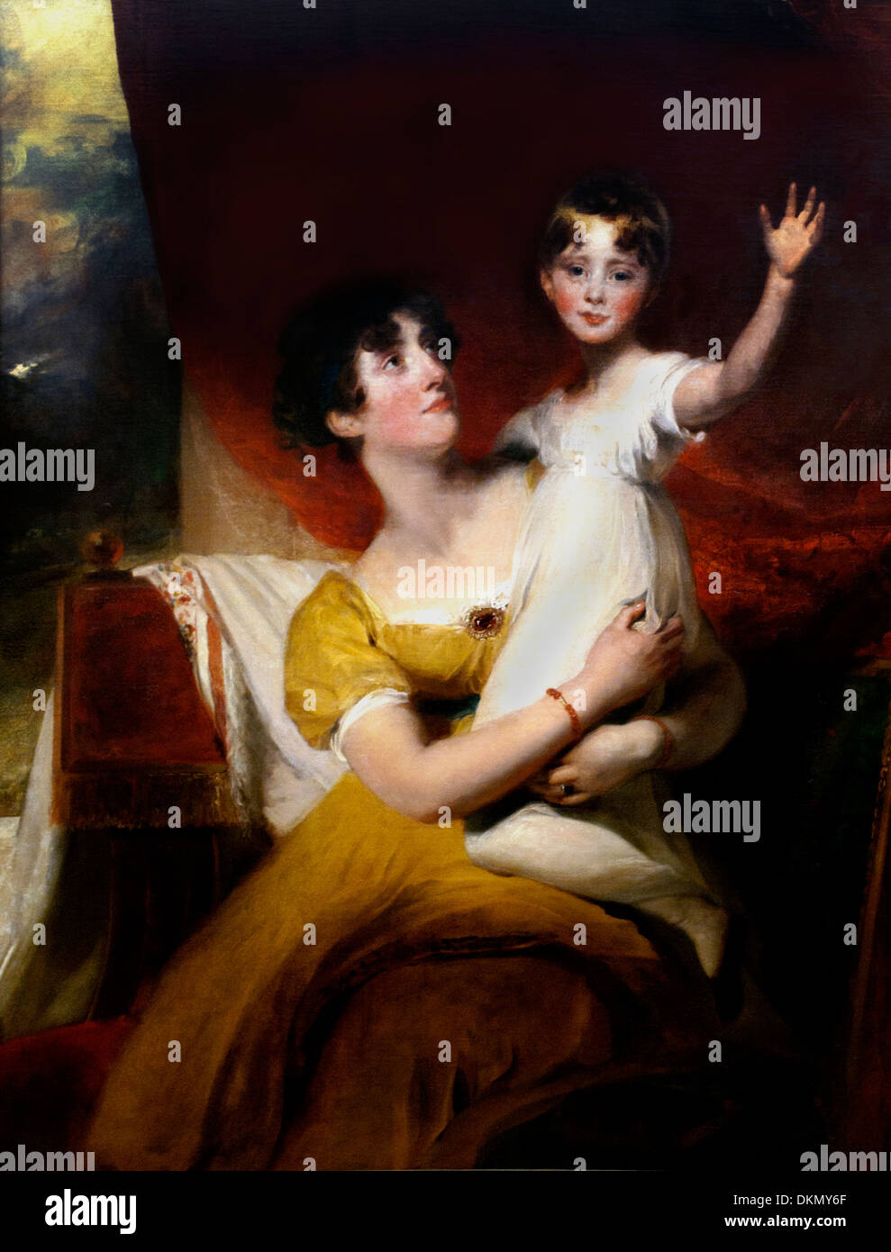 Lade Orde with her daughter Anne 1810 Thomas Lawrence 1769/1830 English - Stock Image
