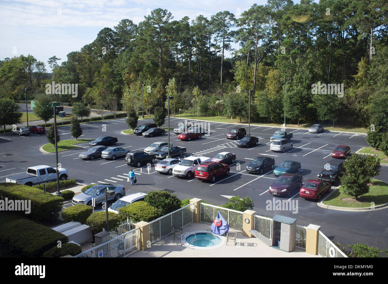 Hotel car parking lot. Tallahassee Florida USA - Stock Image