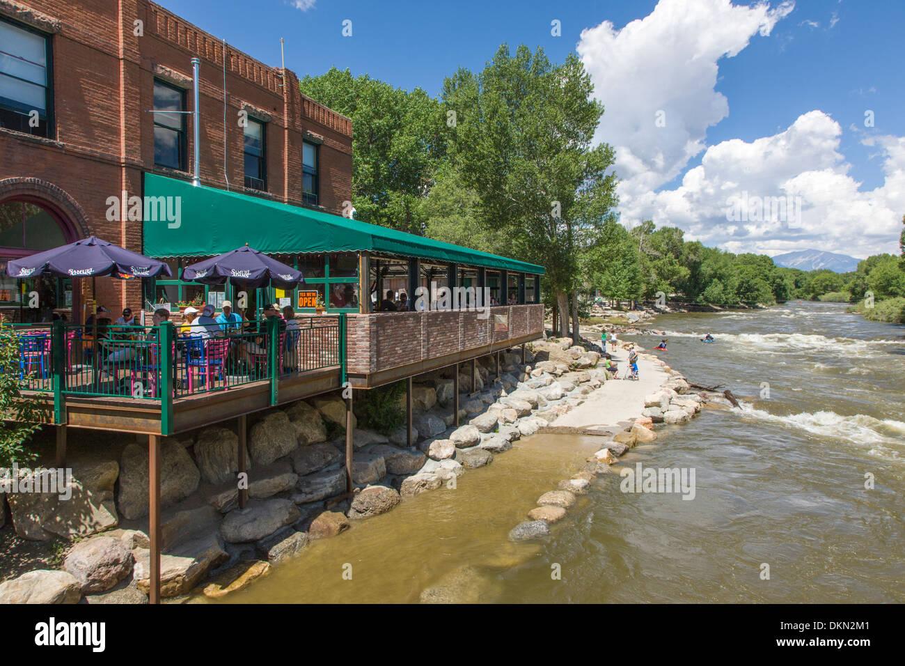 Boathouse Cantina Restaurant Perches On Arkansas River Visitors